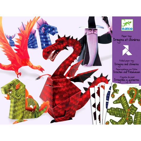 paper toy dragons toys shop for creative stylish kids and their parents. Black Bedroom Furniture Sets. Home Design Ideas
